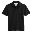 Solid Pique Black (Size-XXL)