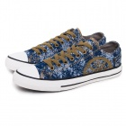 Oxford Low-Top Plimsolls Blue Snowflake (Size 45)