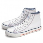 Classic High Top Canvas Shoes White(Size 43)