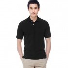 Solid Pique Black (Size-XL)