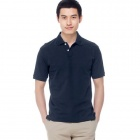 Solid Pique Navy (Size-XXL)