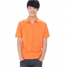 Solid Pique Orange (Size-XXL)
