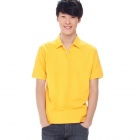 Solid Pique Yellow (Size-XXL)