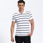 VANCL Vivid Striped (Men's) White (Size-XXL)