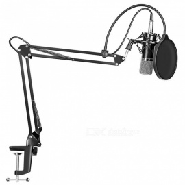 Miimall MW-700 Professional Studio Broadcasting Condenser Microphone with Adjustable Recording Microphone Arm Stand Mount Kit