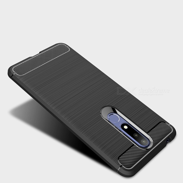 ... Naxtop Carbon Fiber Brushed Soft TPU Non-slip Back Cover Case Protective for Nokia 3.1 ...