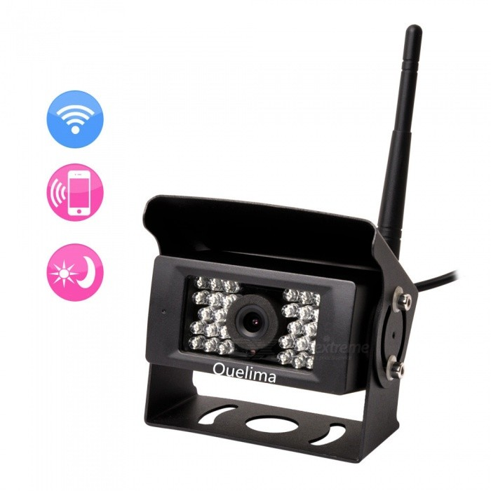 Quelima Wireless WIFI Bus Reversing Camera 28 Infrared Night Vision Bus  Camera Support Android IOS APP
