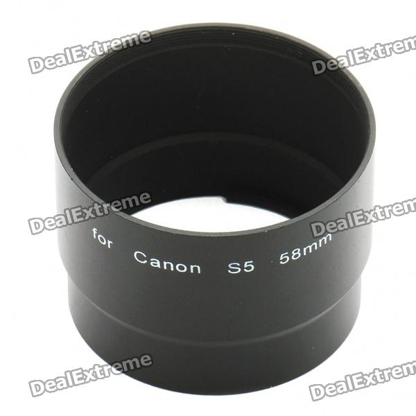 58mm Digital Camera Lens Adapter Tube for Canon S3 brand new 310 7522 725 10092 replacement projector lamp with housing for dell 1200mp 1201mp