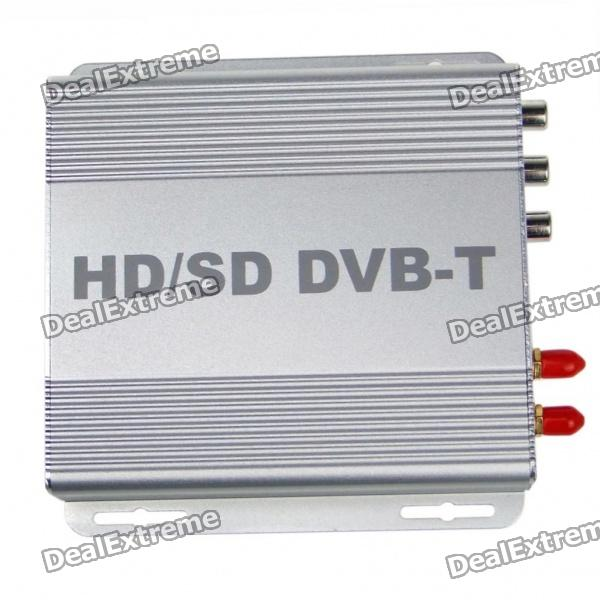 H.264/MPEG-4 DVB-T High Speed HD/SDTV Receiver Digital Television Box (Silver) 1080p mobile dvb t2 car digital tv receiver real 2 antenna speed up to 160 180km h dvb t2 car tv tuner mpeg4 sd hd