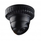"H.264 1/3"" Color CCD Dome IP CCTV Camera w/ 22-IR LED Night-Vision - Black"