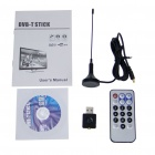 Compact USB MPEG-2/H.264 DVB-T Digital TV Dongle with Remote Controller