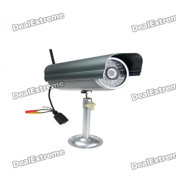 H.264 300K Pixel WIFI/LAN Color CCD Waterproof IP Camera with 36-IR LED Night-Vision
