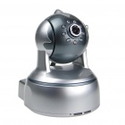 802.11b/g WIFI+LAN 300KP MJPEG IP Camera with Audio and 8-LED Night Vision - Silver