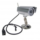 IP Wireless WIFI/LAN 300K CMOS Waterproof Camera with 40-LED IR Night Vision (Silver)