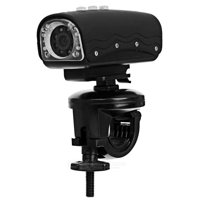 5.0 Mega Pixels HD 720P Waterproof Action Video Camera with 8-LED Night Vision - Black (TF)
