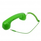 Unique Retro Telephone Style Handset w/ Microphone + Volume Control for iPhone - Green (3.5mm)