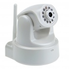 300KP Wireless Wi-Fi Network CCTV Surveillance IP Camera w/ 10-LED Night Vision/Microphone - White