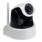 300KP Wireless Wi-Fi Network CCTV Surveillance IP Camera w/ 10-LED Night Vision/Microphone - Black