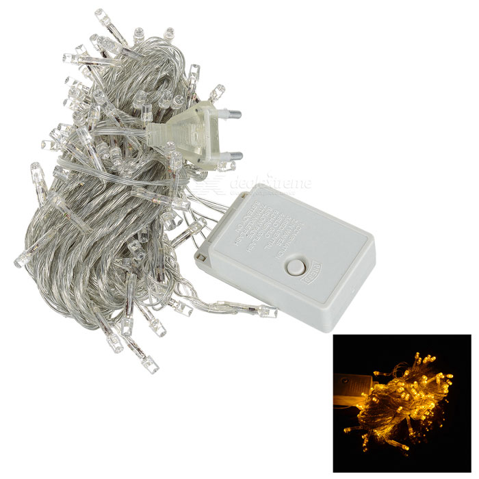 100-LED 9.2M Christmas Light (8-Mode Yellow LED 220V AC)