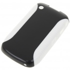 Protective PVC Case for Blackberry 8520 (Black + White)