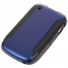 Protective PVC Case for Blackberry 8520 (Black + Blue)