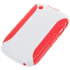 Protective PVC Case for Blackberry 8520 (White + Red)