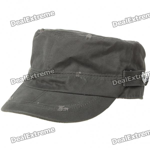 Pure Cotton Military Cap - Dark Green