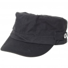 Pure Cotton Military Cap - Black