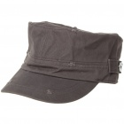 Pure Cotton Military Cap - Coffee
