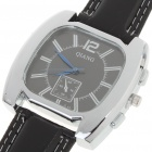 Stylish Quartz Wrist Watch with Stainless Steel Dial + PU Leather Band - Style Assorted (1 x 377)