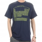 The Big Bang Theory Periodic Table of the Elements Style Cotton T-shirt - Dark Blue (Size L)