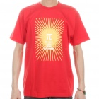 The Big Bang Theory Series PI Style Cotton T-shirt - Red (Size L)