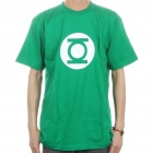 The Big Bang Theory Series Green Lantern Distressed Style Cotton T-shirt - Green (Size XL)