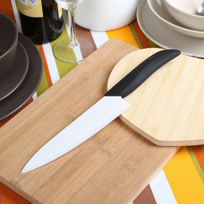 7 Chic Chefs Horizontal Ceramic Knife (17.5CM-Blade)Ceramic Knife<br>Form  ColorWhitePacking List<br>
