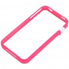 Ultrathin Protective Bumper Frame + Full Body Guard + Cloth + Stand for iPhone 4 - Pink