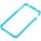Ultrathin Protective Bumper Frame + Full Body Guard + Cloth + Stand for iPhone 4 - Blue