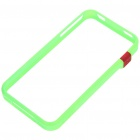 Ultrathin Protective Bumper Frame + Full Body Guard + Cloth + Stand for iPhone 4 - Green
