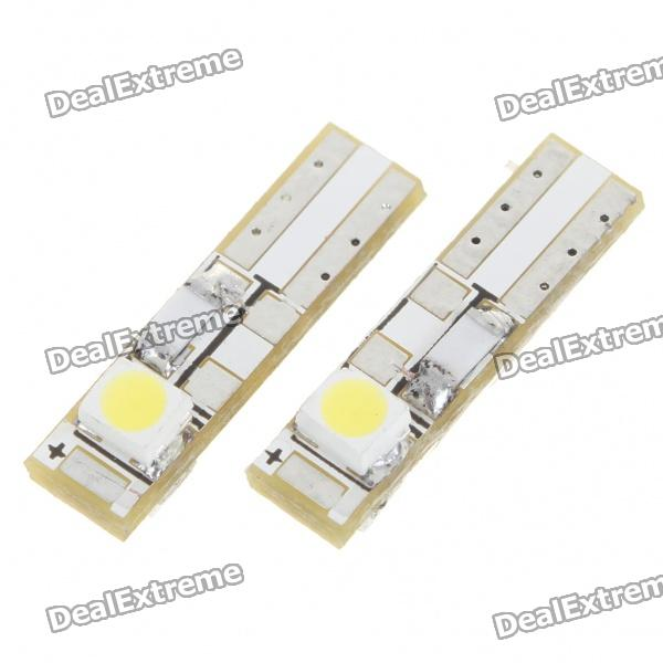 T5 3528 0.15W 8LM White Light 2-LED Car Signal Light Bulbs (2-Pack/DC 12V)