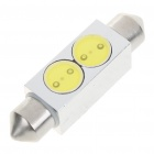 41mm 2W 6500K 35-Lumen LED White Light Bulb for Car (DC 12V)