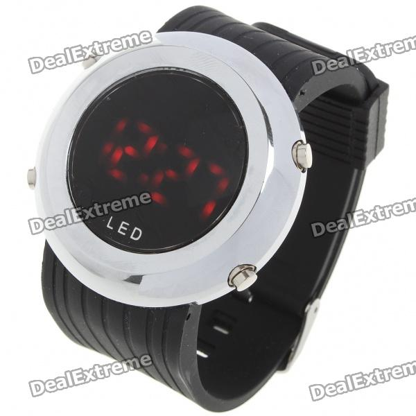 Stylish Digital Alloy LED Wrist Watch with Silicone Watchband (1 x CR2023)