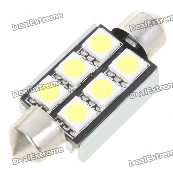 39 мм 2,5 Вт 6-SMD LED 200-250LM Белый чтения / License Plate / Dome Lamp Light Bulb (12V)