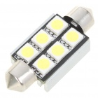 39mm 2.5W 6-SMD LED 200-250LM White Reading/License Plate/Dome Lamp Light Bulb (12V)