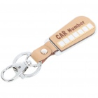 Creative DIY Car Number Plates Keychain - Color Assorted