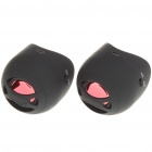 USB Rechargeable Portable MP3 Music Speaker - Black (Pair/3.5mm Jack)