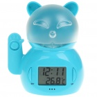 "1.6"" LCD Time and Thermometer Display Earthquake Alarm with Voice and LED Light - Blue (2 x AAA)"