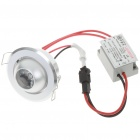 1W 3500K 90LM Warm White LED Ceiling Lamp/Down Light with LED Driver (85~265V)