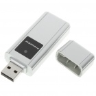 650nm Presenter Wireless USB com ponteiro laser vermelho - Silver + Black (2 x AAA)