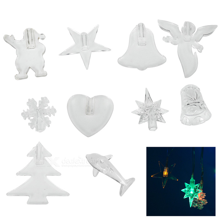 Attachment Accessories for DX LED Christmas Lights (Assorted 10-Pack)