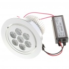 7W 560-630LM 6500-7000K White LED Ceiling Lamp/Down Light with LED Driver (85~265V)