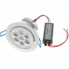 7W 560-630LM 3500-4000K Warm White LED Ceiling Lamp/Down Light with LED Driver (85~265V)